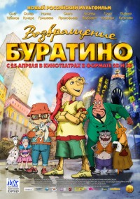Смотреть Возвращение Буратино онлайн на Кинопод бесплатно